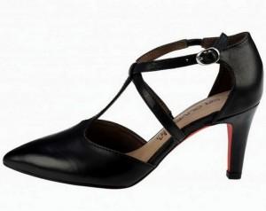 Pantofi damă cu baretă T și ankle strap cu cataramă lateralăPantofi damă cu baretă T și ankle strap cu cataramă laterală